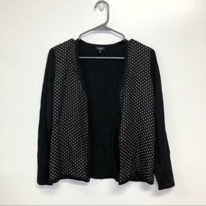 🌻Talbots Black and Cream Polka Button Cardigan